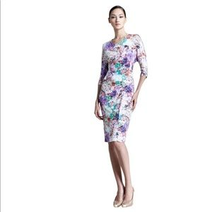 Escada Ellna Fantasy Floral Jersey Midi Dress
